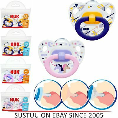 NUK Classic Happy Days Baby Soother Silicone 2 Pack Orthodontic Infant Dummies