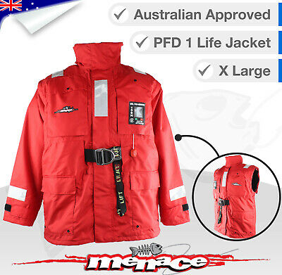 XL PFD Inflatable Life Jacket Stormy Weather Boating Yachting Self Inflating