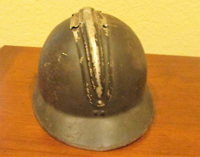 """Vintage French Army """"Adrian"""" Helmet with no insignia"""