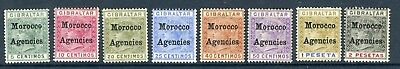 MOROCCO AGENCIES-1899  An average mounted mint set to 2p Sg 9-16