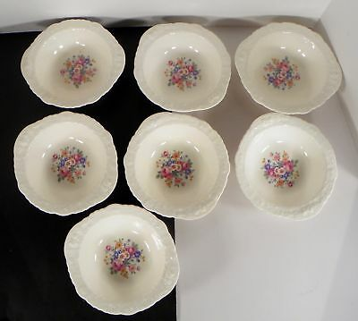 Pope Gosser ROSE POINT Lugged Cereal Bowl (s) LOT OF 7 Floral Pink 25004