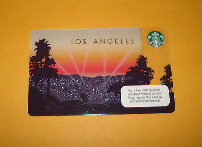 2011 2012 Starbucks Los Angeles Special Release Card - Mint USA RARE