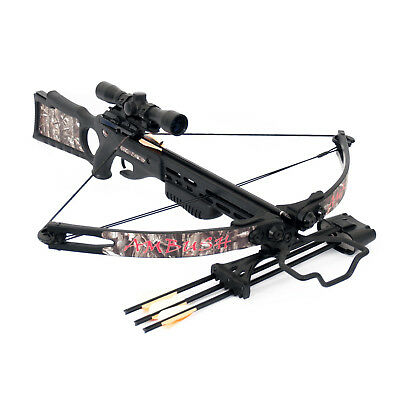 SA Sports Ambush Crossbow Package with 4x32 Multi-Reticle Scope & 4 Arrows (544)