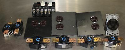 Lot of Square D, Hubbell Receptacles, Electrical Outlets