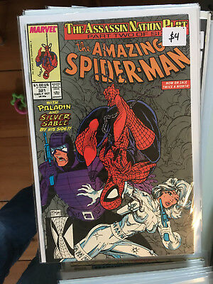 AMAZING SPIDER-MAN #321 VF/NM 1st Print TODD McFARLANE Silver Sable