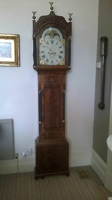 antique longcase clock by i tilly bristol c 1820. 8 day moon phase