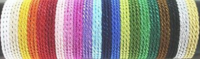 NATURAL VISCOSE BRAIDED CORD / PIPING 2 mm or 4 mm -  20 colours 1 mt > 10 mt
