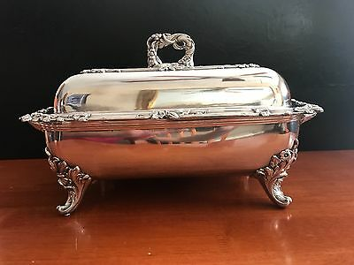 Sheffield Silver – Footed Covered Serving Dish with Hot Water Base