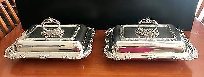 Sheffield Silver – A Pair of Covered Serving Dishes