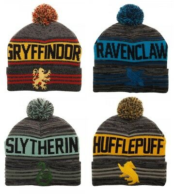 Harry Potter Winter Beanie Hat Gryffindor Ravenclaw Hufflepuff Slytherin Houses