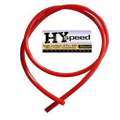 "HYspeed PVC Fuel Gas Line 5/16"" ID X 7/16"" OD 3' Solid Red ATV Motorcycle Honda"