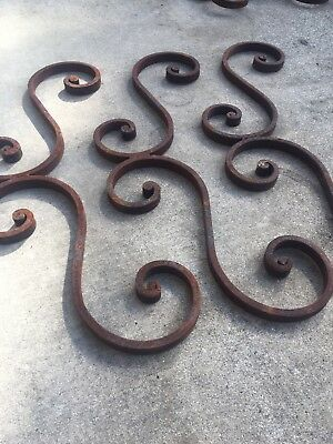 Handmade Wrought Iron Blacksmith Antique Vintage Rustic Element Iron