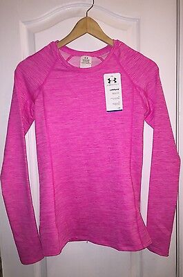 NWT Under Armour Pink Long Sleeve Shirt ColdGear Fit Thermal Crew Top Women's S