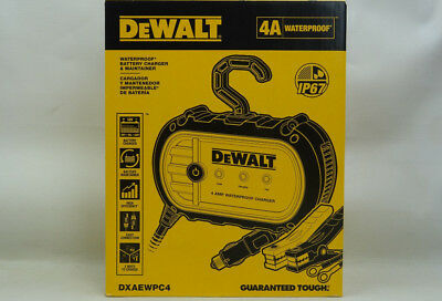 NEW DEWALT DXAEWPC4 Waterproof Battery Charger & Maintainer 4 AMP IP67  Rating
