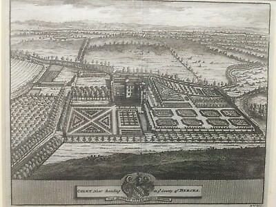 1707 Antique Print;  Coley or Vachel House, Old Coley Park, St Mary's, Reading
