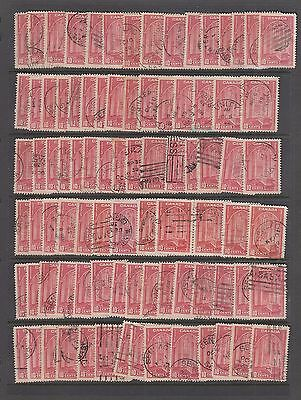 Canada #241 Used 1938 Lot of 90 Memorial Chamber, Parliament Ottawa SCV $22.50
