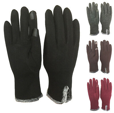 Womens Warm Smart Touch Screen Gloves Windproof Driving Everyday Winter Gloves