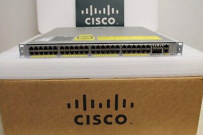 Cisco 4948 WS-C4948E-F-E 48 Port Gigabit 4 x 10G SFP L3 Switch 15.2 OS Dual AC