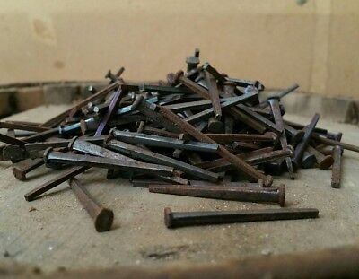 "1.5"" Old iron square nails 1800s 100cnt"
