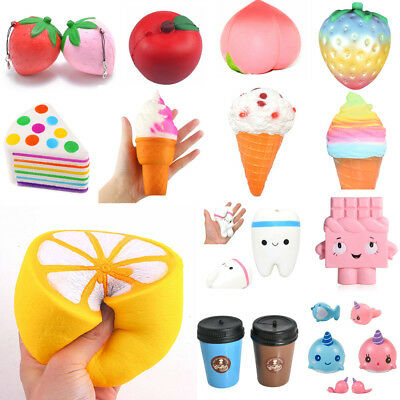Soft PU Foam Food Fruit Squishy Candy Scented Slow Rising Stress Relief Kids Toy