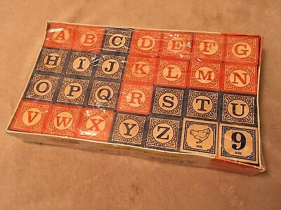 Uncle Goose Classic Embossed Wooden ABC Blocks / Still In Package / MADE IN USA