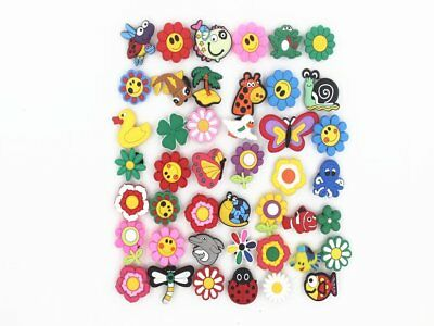 42pcs Cute Flowers and animals Shoe Charms Shoe accessories for Croc Shoes &