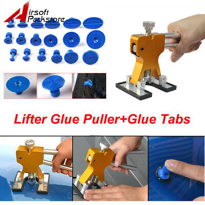Car Body Hail Glue Puller Tabs Lifter Paintless Removal Dent Repair pdr Tool Kit