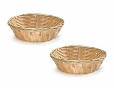 NEW 8-Inch Round Woven Bread Roll Baskets Food Serving Basket Restaurant Quality