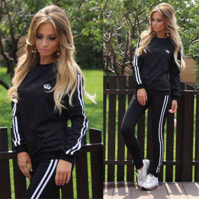 Damen Sportanzug Frauen Jogginganzug Jogging Jacke Hose Trainingsanzug Sports