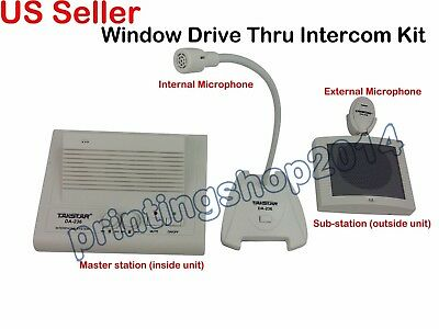 Window Drive Thru Intercom Kit Restaurant Station Bank Cafeshop Voice Amplifier