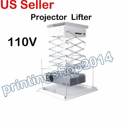 Ceiling Projector Bracket Motorized Lift Remote Control Hidden Projector Lift