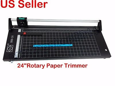 "New Style 24"" 610mm Portable Rotary Trimmer Photo Vinyl Paper Cutter"