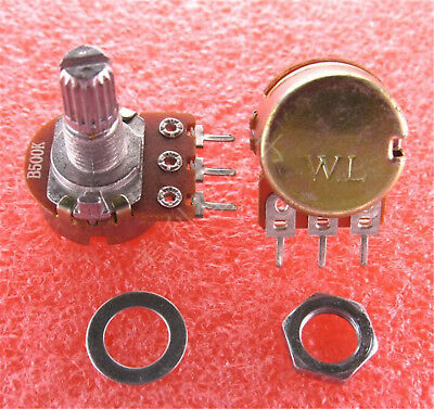10pcs WH148 B1K-B500K B1M OHM Linear Taper Rotary Potentiometer Pot 3PIN 15MM