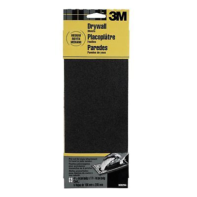 x 11 in. 3M Tri-M-ite Drywall Sandpaper Sheets-Box of 100-Grit 60D 4-3//16 in