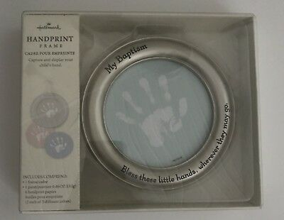 Hallmark MY BAPTISM Handprint Frame With 3 Background Colors