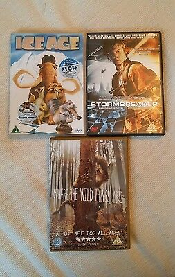 Kids DVD bundle - ICE Age / Stormbreaker/ Where the Wild Things Are