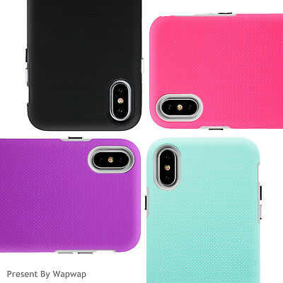 For Apple iPhone X Case Shockproof Silicone Hard Back Soft TPU Bump Rubber Cover