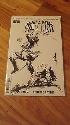 John Carter Warlord of Mars #6 B&W 1:10 Incentive Variant NM