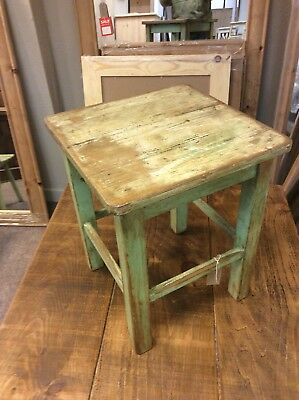 hungarian rustic antique lamp table Wooden Vintage Shabby Collectable Side Table