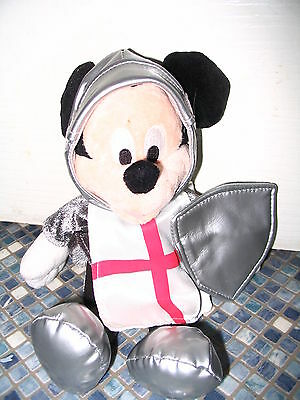 Disney Store Mickey Mouse St George Knight Beanbag Shield Brand New Very Rare