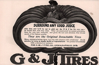 Ad Lot Of 3 Early Tire Ads G & J Dunlop Goggles Judge Headlights