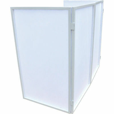 Novopro Foldable DJ Screen with Zipped Carry Bag White Frame White Panels Facade