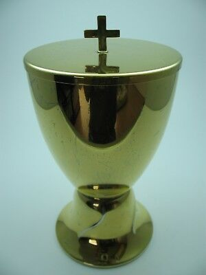 Rare Antique Messkelch Ciborium abendmahlkelch from Gold Plated 925 Silver