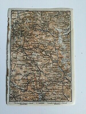 Hartington, Buxton, Great Britain, 1910, Antique Vintage Street Map, Atlas