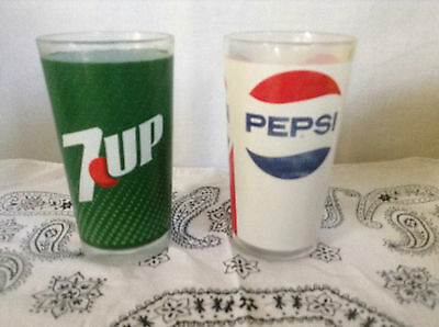 Vintage Pepsi & 7Up Glasses
