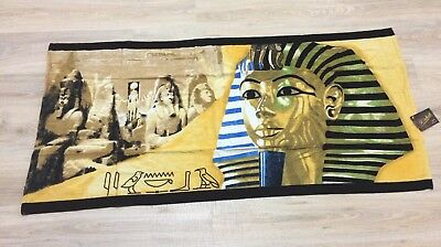 Egyptian Cotton King Tut Ancient Egyptian Themed Beach Bath Towel Made in Egypt