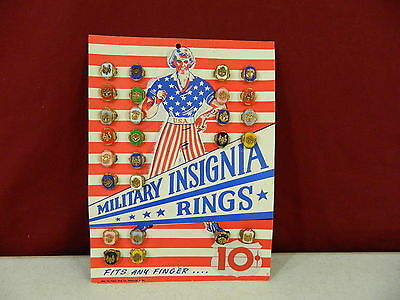 Military Insignia Rings Penny King Co Store Display 26 Rings