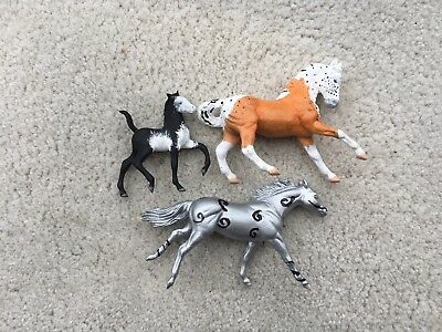 Lot 3 Breyer Horse Stablemate Custom CM Bodies Trotting Foal Thoroughbred WB G2