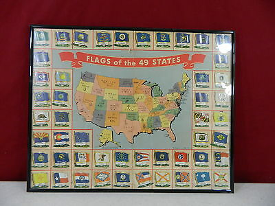 Complete Set Nabisco 49 Us Flags And Map