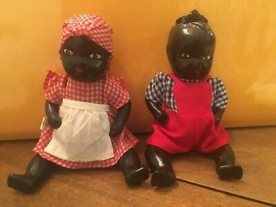 Mammy And Pappy Ceramic Moveable Figurines